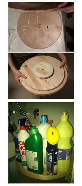 Under the sink turntable
