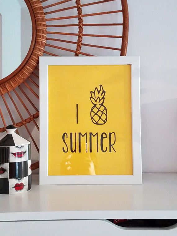 Pineeapples & Summer! Yes!! Inexpensive printable art works great on your seasonal gallery wall.