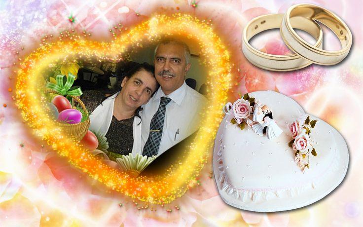 Montagem de Fotos Casamento Online Gratis Coração pirotécnico