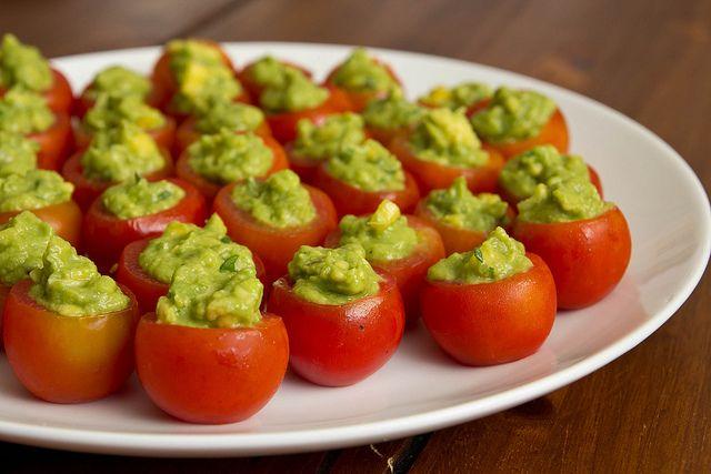 guacamole stuffed tomatoes by kokocooks.com >> #WorldMarket Movie Night Giveaway Sweepstakes http://sweeps.piqora.com/worldmarket