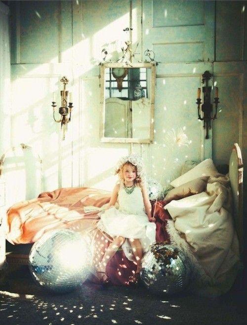 little sparkle: Lights, Discos Ball, Magic, Dreams, Girls Bedrooms, Glitter Girls, Little Girls Rooms, Photo, Kid