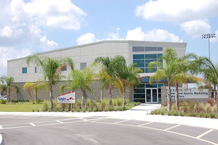 Polk County Tourism and Sports Marketing (PCTSM), Lake Myrtle Park Auburndale, Florida. The Polk County Tourism and Sports Marketing Headquarters is an 18,500 square foot facility that brings in economic growth to Polk County through Sports and leisure Tourism.