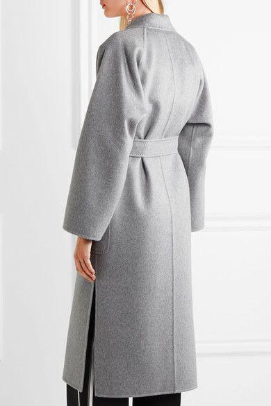 Max Mara - Marlo Belted Cashmere Coat - Gray - UK14