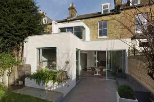 agrandissement maison moderne