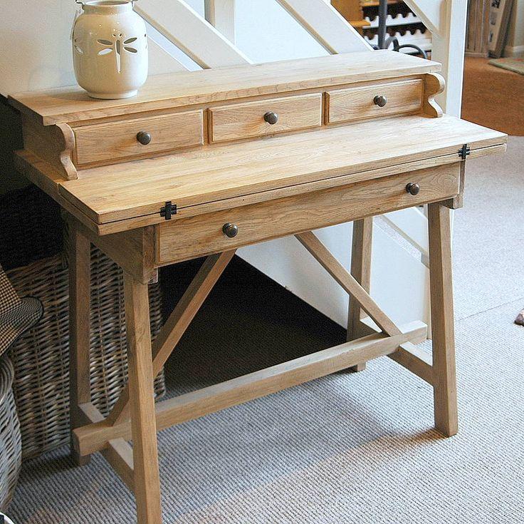 Washed Oak Foldaway Desk