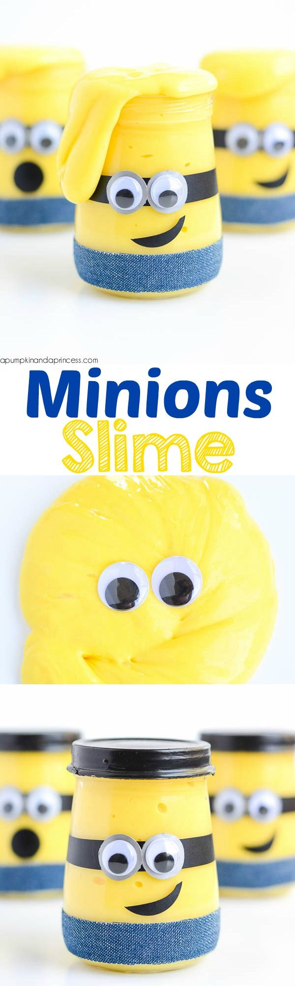 Kids will love playing with this Minion slime! This easy recipe makes a great boredom buster and Minion party favor.
