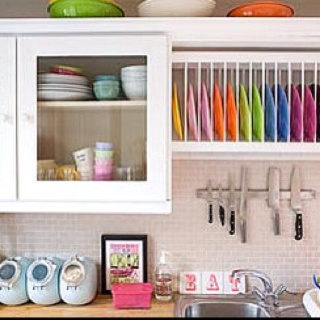 I heart colorful kitchens