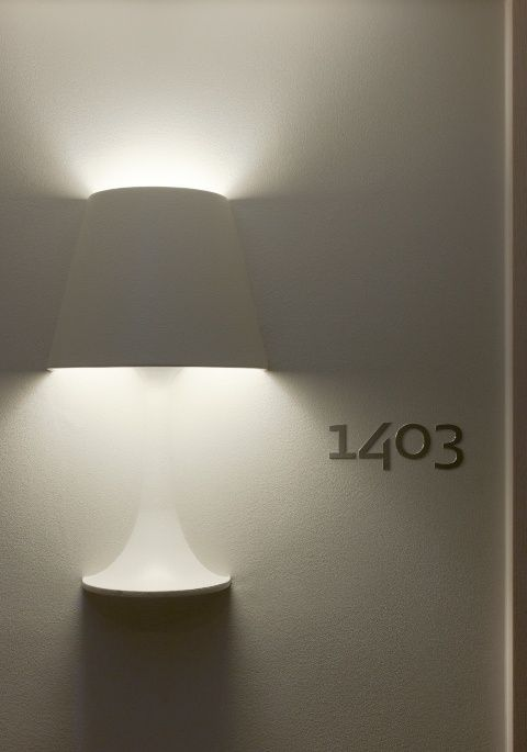 """You had to sneak into my room / 'just' to read my diary?"" - MORRISSEY - (Stunning details: wall hotel light at Scandic Victoria Tower in Stockholm, Sweden. Design by Philippe Starck)"