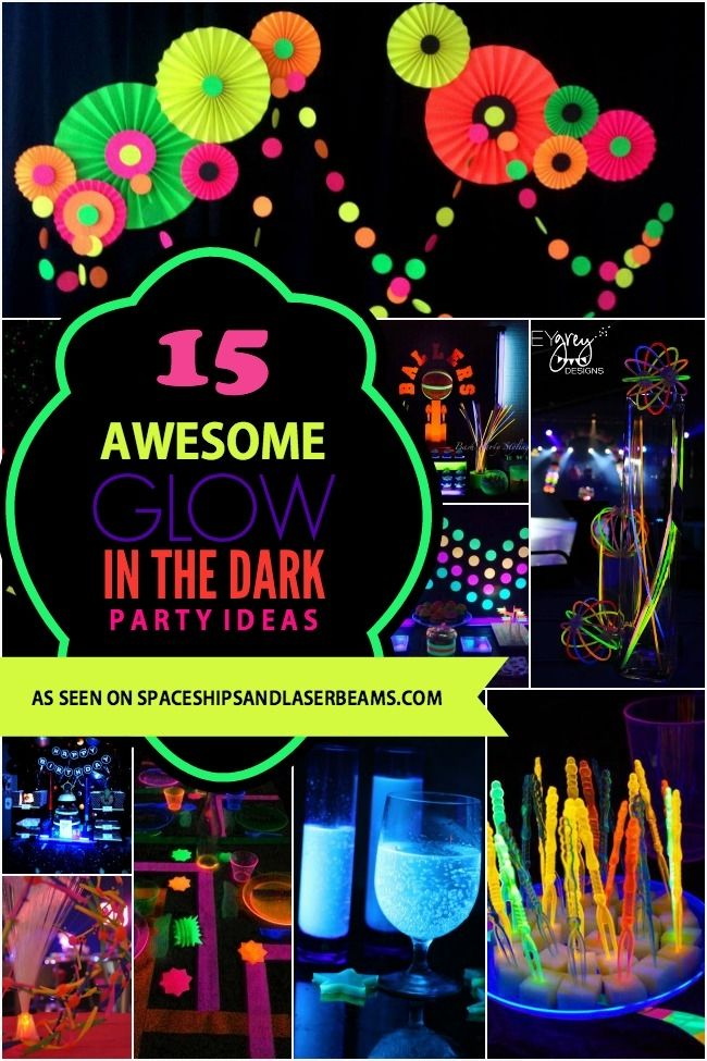 Need a cool boy birthday party theme for your tween? Have fun with these 15 bright glow-in-the-dark party ideas!