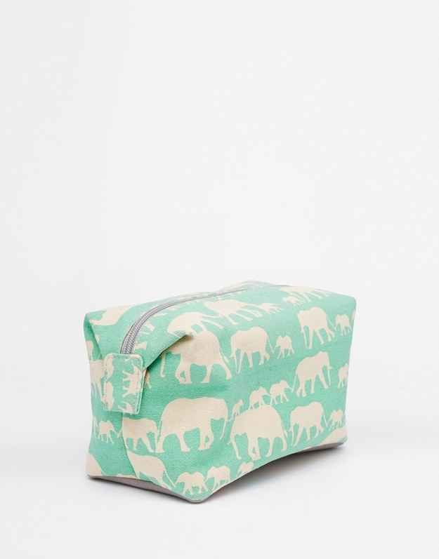 This elephant makeup bag — $28