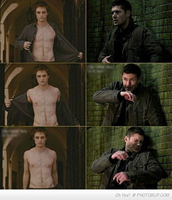 I had this exact reaction in the theater! Edward Cullen and his ugly left nipple...