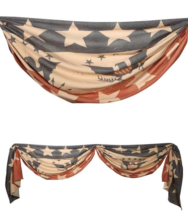 Eagle And Stars Bunting | Vintage Style 4th of July Decorations