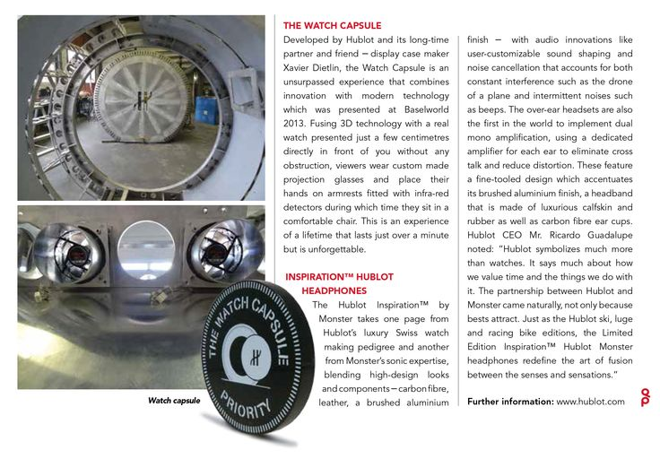 QP Middle East Magazine about the Hublot Watch Capsule !