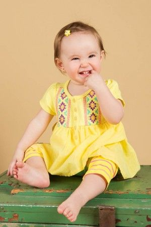Tunique et legging jaune #mode #modechoc #bebe #baby #fashionkids #boheme
