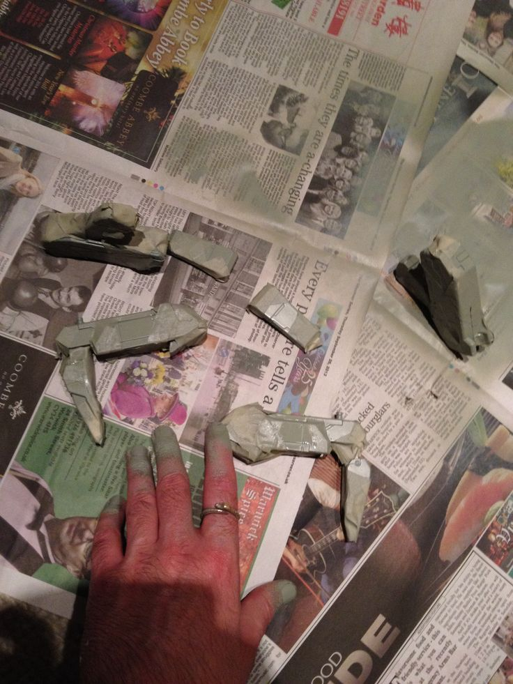 Spray painting the masked legs using Tamiya aircraft spray paint