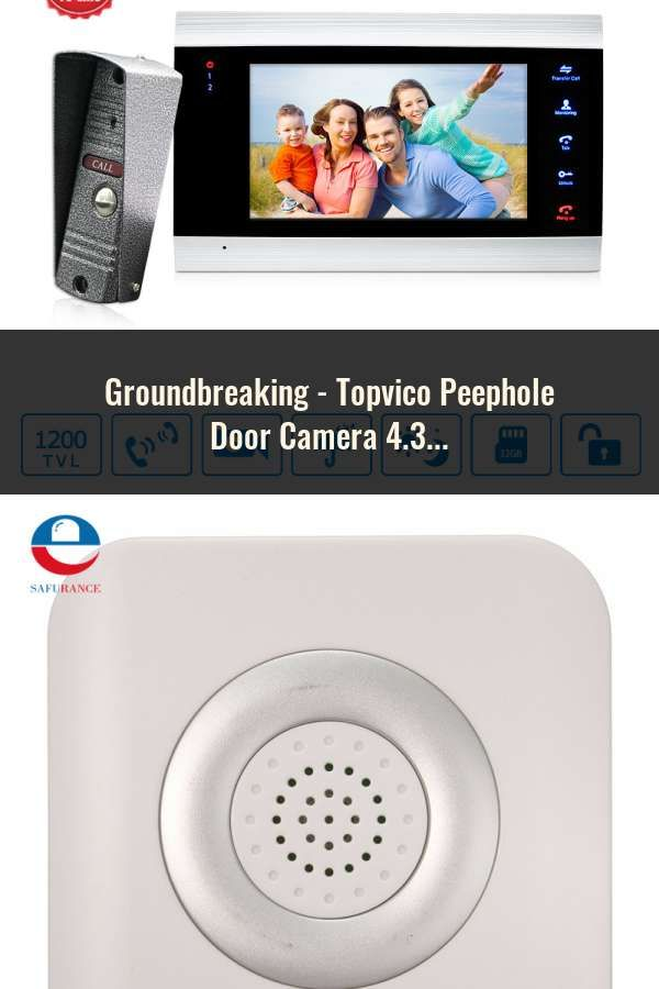 4.3 Inch Color Screen  Peephole Door Camera With Electronic Doorbell LED Lights
