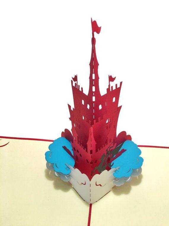 Fariy Tale Castle - Prince Pop-Up Paper Art - Birthday 3D Card