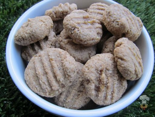 (wheat and dairy-free, vegan, vegetarian) peanut butter honey banana dog treat/biscuit recipe