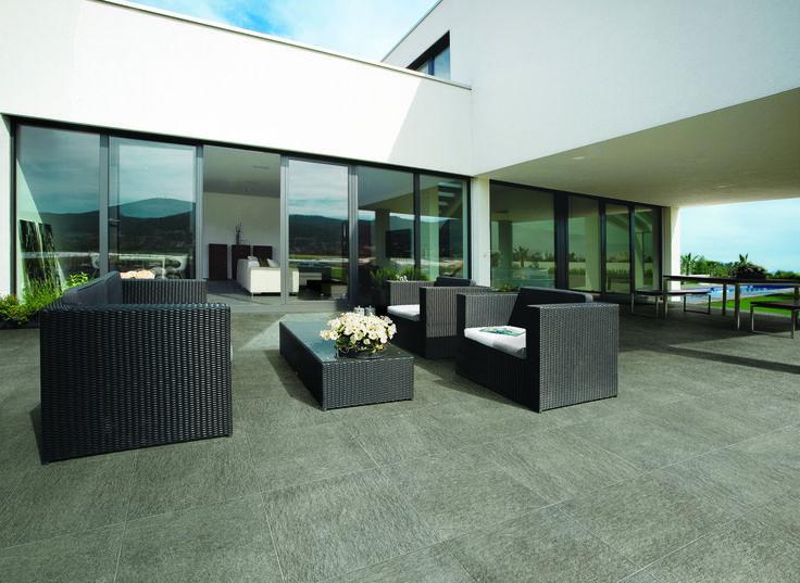 Minoli - Extend - Outdoor Patio Floor Tiles: Extend Grey ...