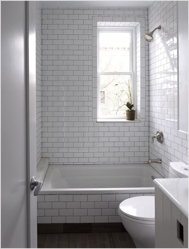 Bathroom contemporary new york bathroom window dark floor for Subway tiles for bathroom shower