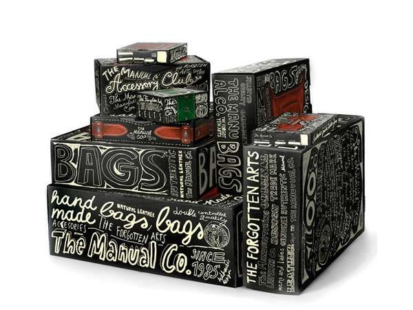 Graffiti Accessory Packaging - Doodle-Covered Cardboard Boxes by Peter Gregson (GALLERY)
