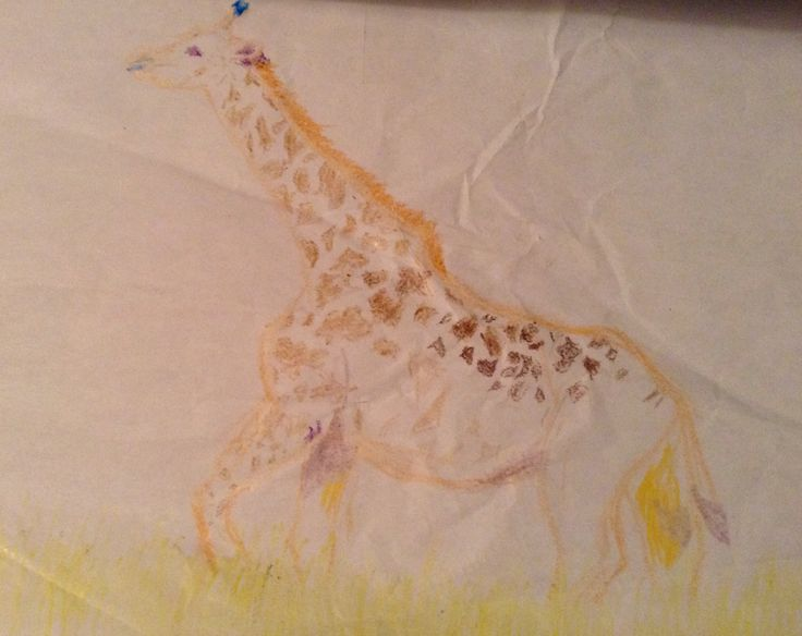 The first giraffe I drew