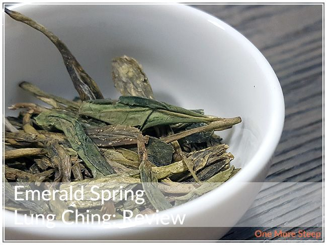 Review of Arbor Tea's Emerald Spring Lung Ching (Dragon Well) green tea on One More Steep