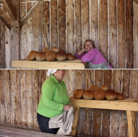 Baking the first bread of the season at Roma at Three Rivers, PEI. http://peiflavours.ca/index.php/flavours-trail/listing/Jean-Pierre-Roma-National-Historic-Site/