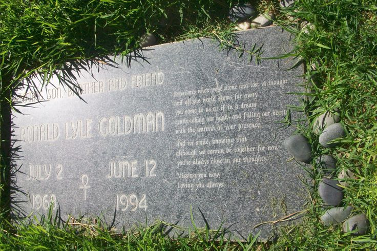 """Ronald Goldman - Waiter who was killed along with Nicole Brown Simpson in 1994 at her Brentwood, Los Angeles home which subsequently led to the criminal investigation and arrest of former American NFL player turned actor, Orenthal James """"O. J. Simpson"""" often described as the """"trial of the century."""" Although O. J. Simpson was acquitted of the murder(s), he was later found liable for Goldman's death in a civil trial."""
