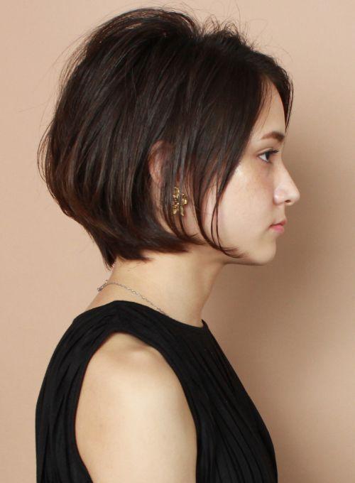 ☆柔らかいボリューム☆大人の洗練ショート(髪型ショートヘア)