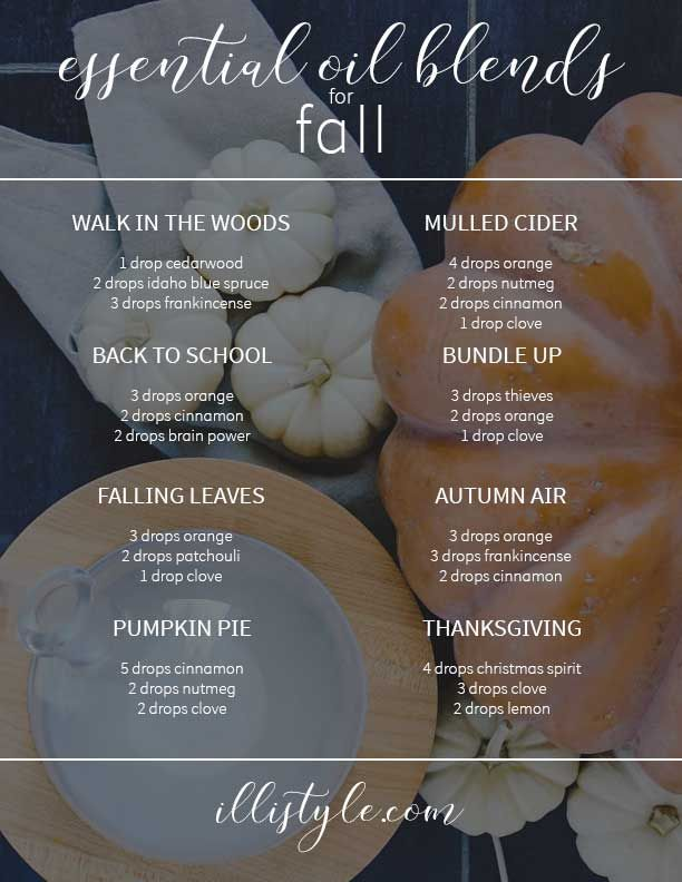 fall is here! these Fall Essential Oil Diffuser recipes look amazing for my diffuser this autumn. Yay sweater weather!