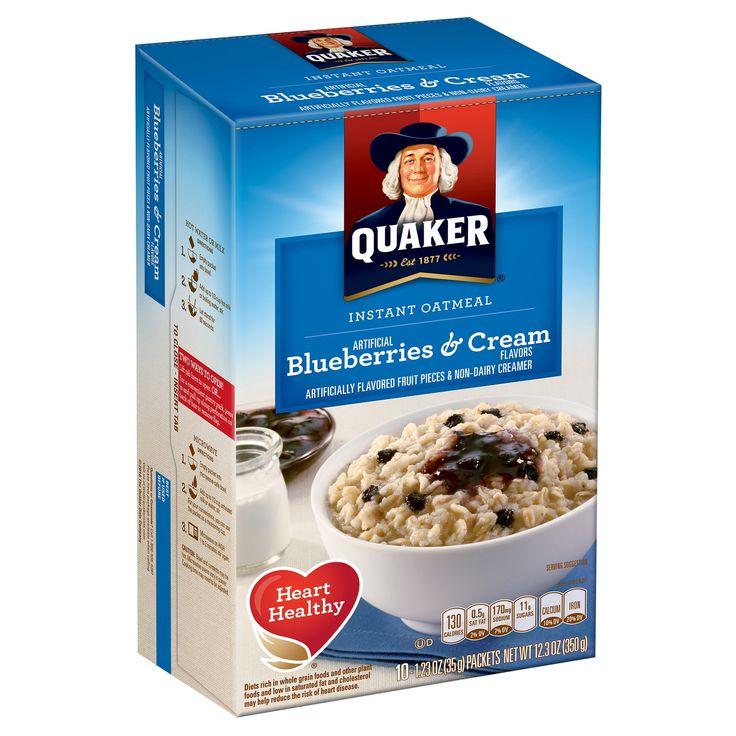 Quaker instant oatmeal blueberries cream 10ct123oz