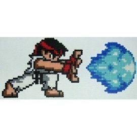 Ryu + Boule De Feu Street Fighter 2 Perler/Hama
