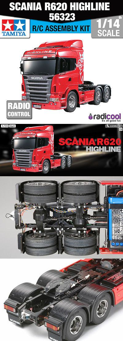 Industrial and Service Vehicles 182184: 56323 Tamiya Scania R620 6X4 Highline 1 14Th R C Radio Control Assembly Kit -> BUY IT NOW ONLY: $347.94 on eBay!