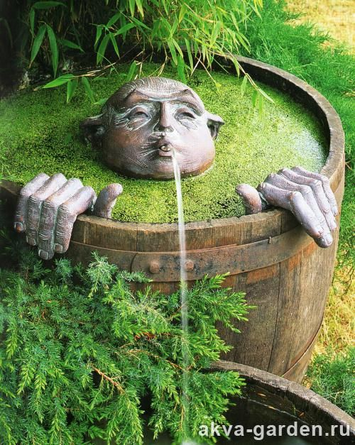 Whimsical garden fountain: