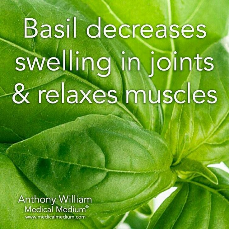 BASIL HELPS WITH SWELLING IN JOINTS