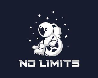 No Limits Logo design - Astronaut logo design of an sitting in a wheelchair.  Price $399.00