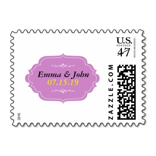 Elegant Save the Date Stamp