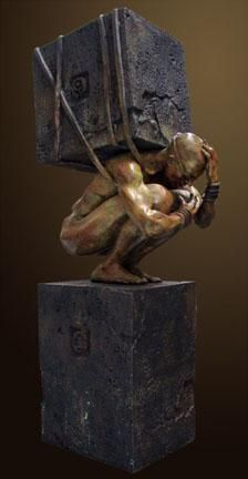 """The Devoir of My Own Creation"" by Renzo Bronze Sculpture Edition Size: 55 SN Size: 40""h x 12""w x 19""d"