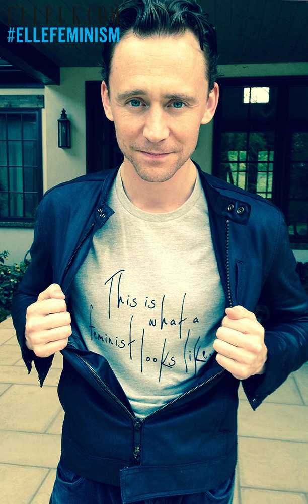 This is what a feminist looks like via Tom Hiddleston, actor, ELLE cover star, ELLE writer and feminist.