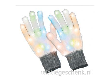 Verlichte Handschoenen. Een verlicht relatiegeschenk voor concert en evenement. Relatiegeschenk.nl voor al uw onbedrukte en bedrukten relatiegeschenken.