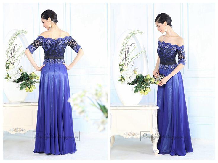 Off-the-shoulder Beaded Lace Appliques Blue Prom Dress http://www.ckdress.com/offtheshoulder-beaded-lace-appliques-blue-prom-  dress-p-2041.html  #wedding #dresses #dress #Luckyweddinggown #Luckywedding #wed #clothing   #gown #weddingdresses #dressesonline #dressonline #bridaldresses
