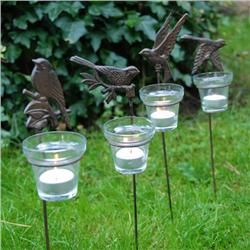 Bird Decorative Votive Stakes (end Of Summer Clearance) · Contemporary  CandleholdersContemporary GardensVotive CandlesGarden ...