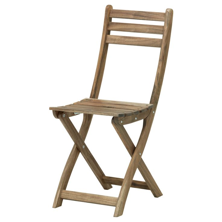 ASKHOLMEN Folding chair - IKEA (Note: made of acacia wood, same as table from Antigua round table from World Market: http://www.worldmarket.com/product/round+antigua+outdoor+dining+table.do?=fn )