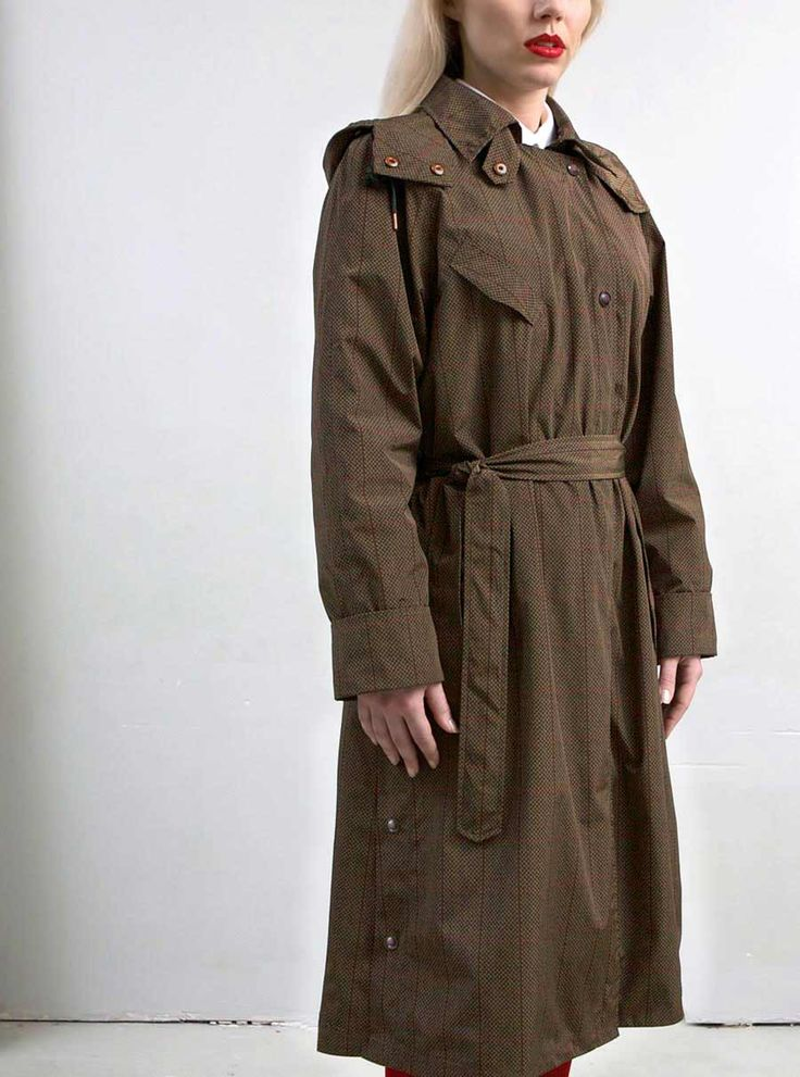 WATERDICHT Amsterdam Straincoat Classic, stylish raincoat Model: trenchcoat