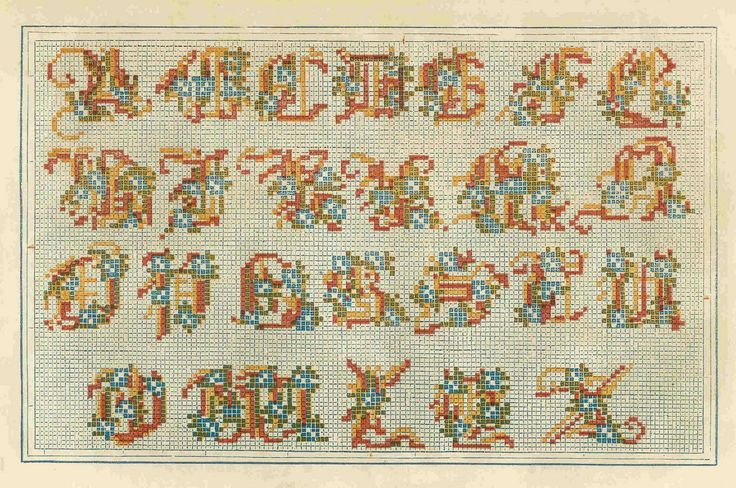 A Lovely Berlin WoolWork Alphabet Pattern ~ Godey's Fashion Book From 1859