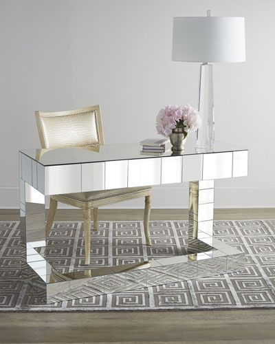Regina-Andrew Design Quinlan Mirrored Writing Desk