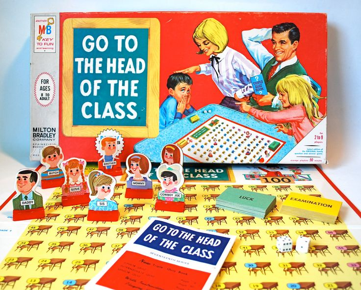 Go To The Head Of The Class Vintage Board Game. $12,00, via Etsy.