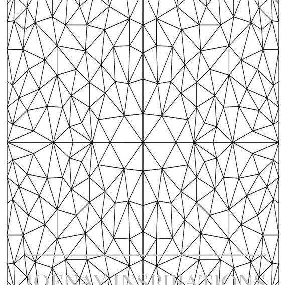 Adult Coloring Book, Printable Coloring Pages, Coloring Pages, Coloring Book for Adults, Instant Download, Stained Glass page 5