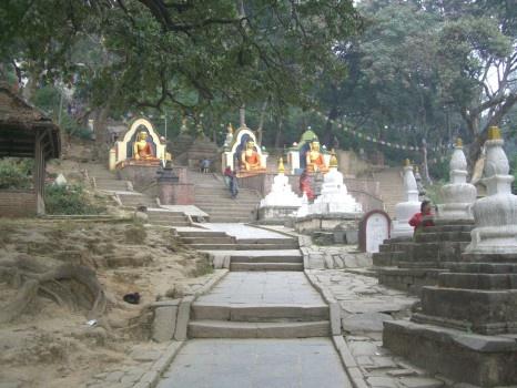 Stairway toward Swayambhunath temple